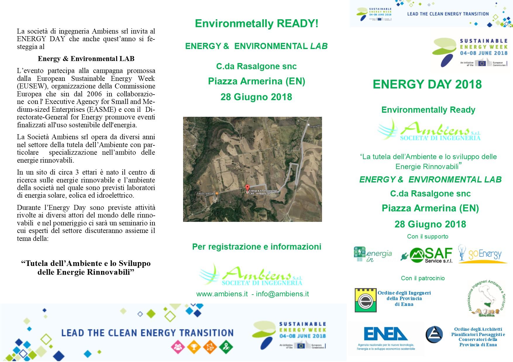 locandina energy day 2018 immagine